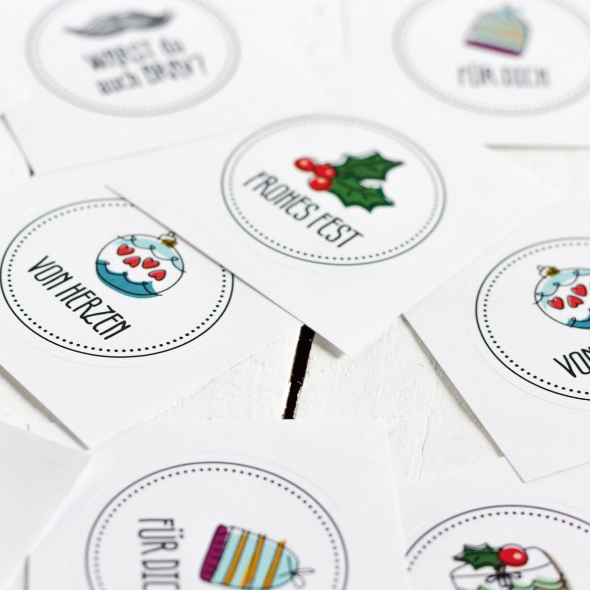 Kleine Papeterie // Sticker Set // Weihnachten