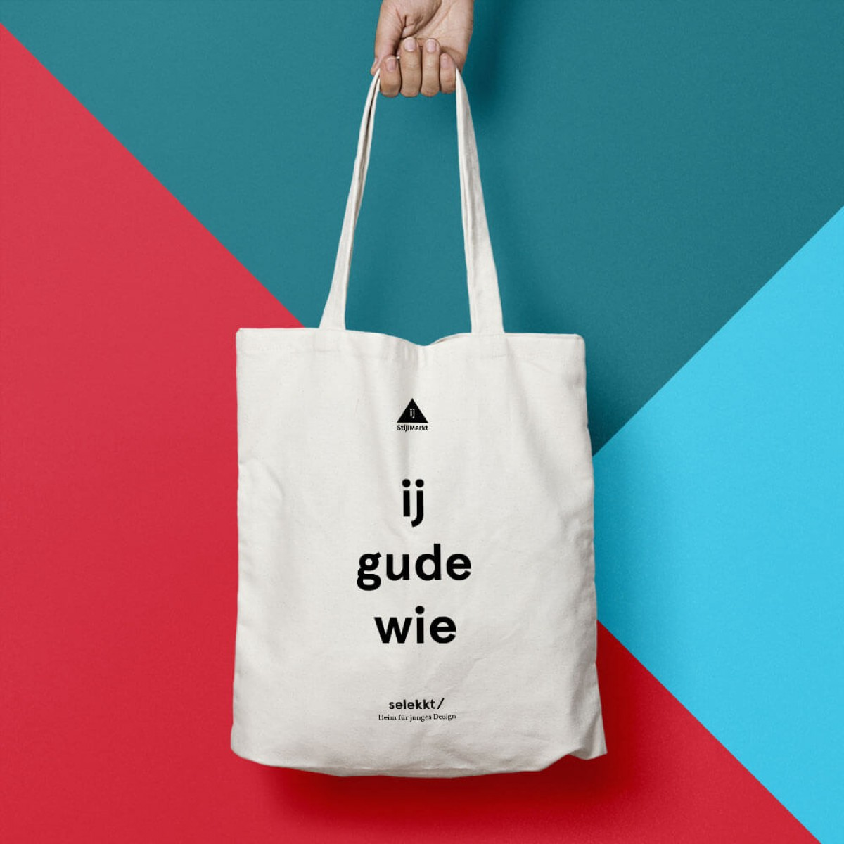 """StijlMarkt Baumwolltasche """"ij gude wie"""""""