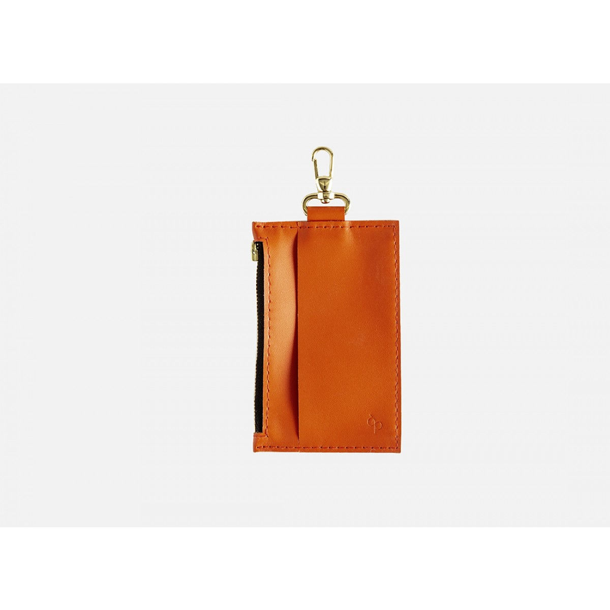 Lapàporter – Mini-Lederportemonnaie mit Karabiner, orange