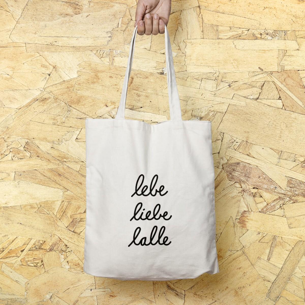 """edition ij Baumwolltasche """"lebe liebe lalle"""""""