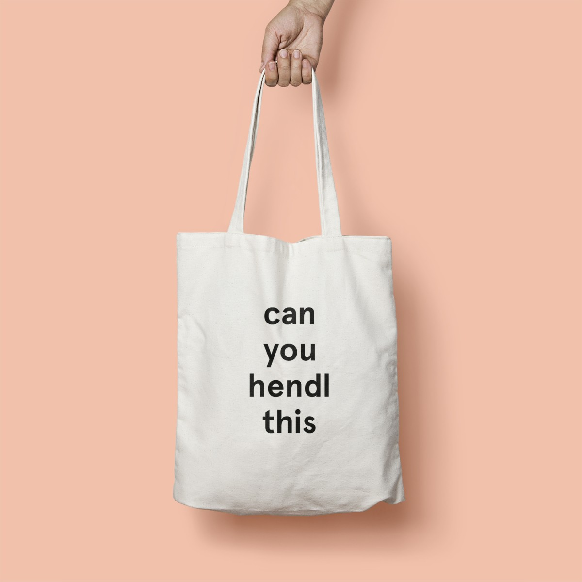 "edition ij Baumwolltasche ""can you hendl this?"""