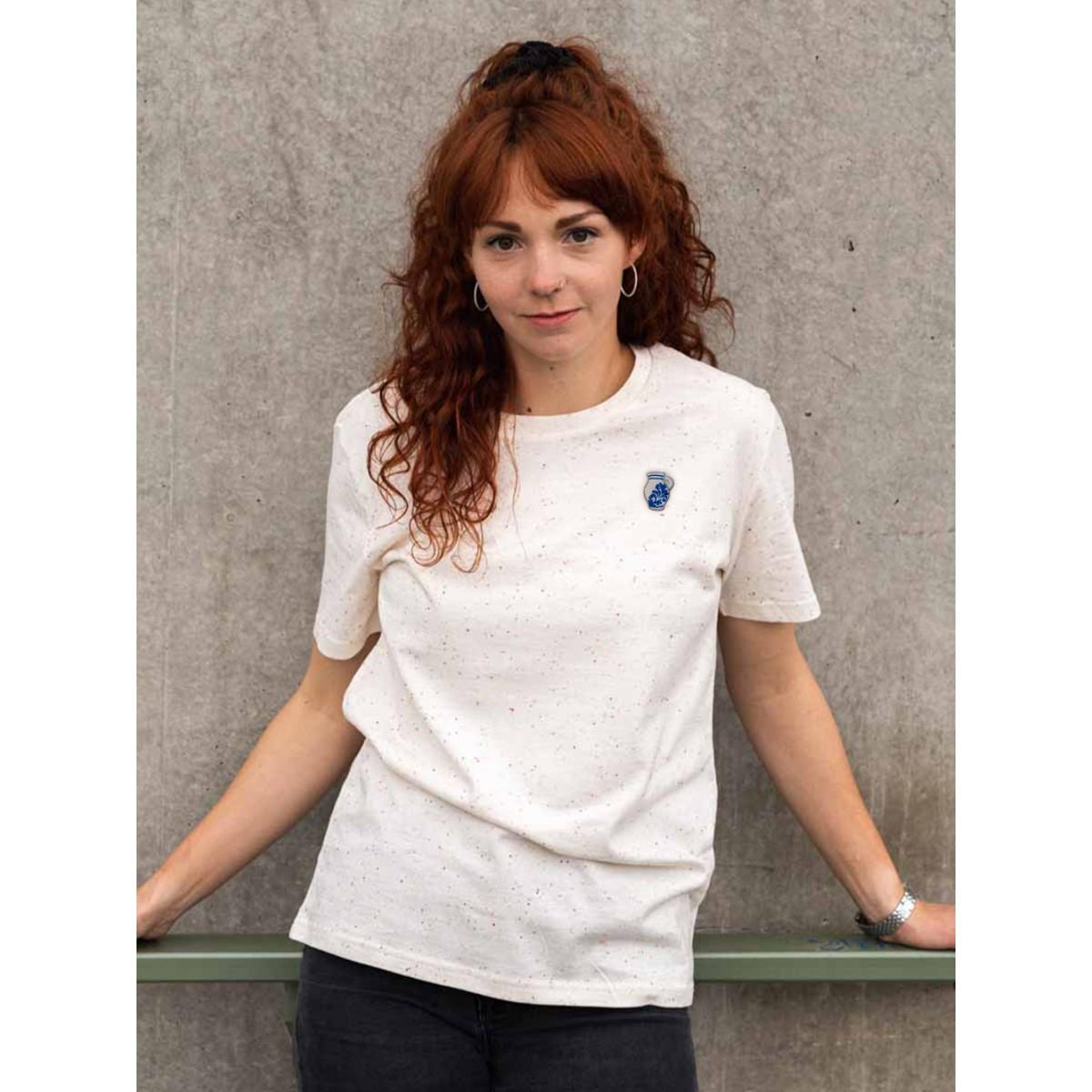 "Stadtliebe® | Frankfurt T-Shirt mit gesticktem ""Bembel"" Mandarin 100% Bio-Baumwolle"