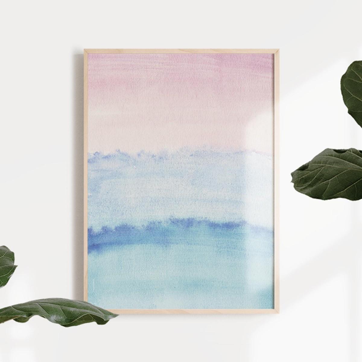 TYST 1 Print als hochwertiger Posterdruck im skandinavischen Stil von Skanemarie +++ Geschenkidee