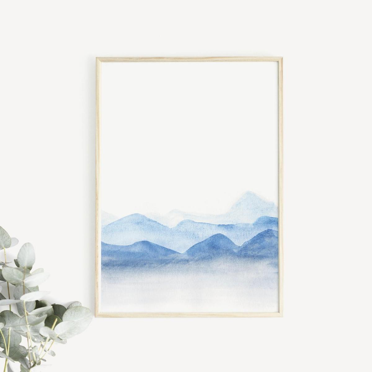 BLÅAVA Print als hochwertiger Posterdruck im skandinavischen Stil von Skanemarie +++ Geschenkidee