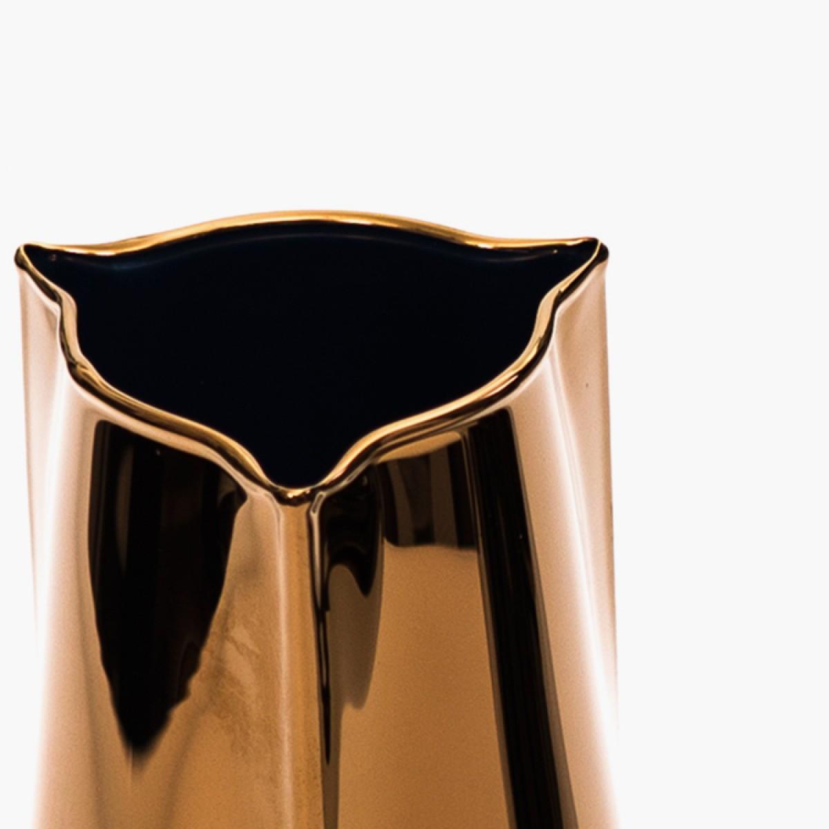 Becchi Carafe - groß, gold