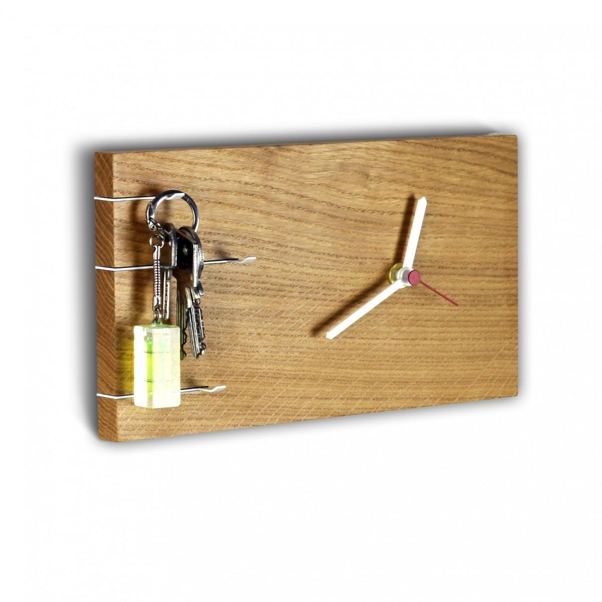 toshi NOVA Schlüsselbrett mit Uhr