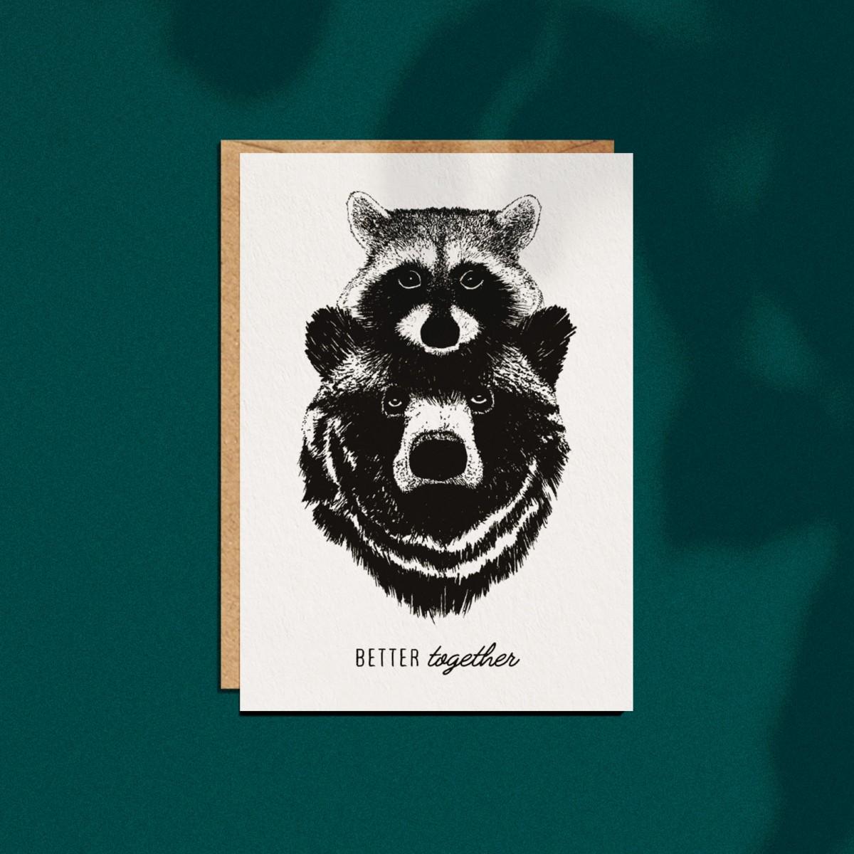 """2er Set Grußkarten """"Forest Animals"""", A6 mit Umschlag"""