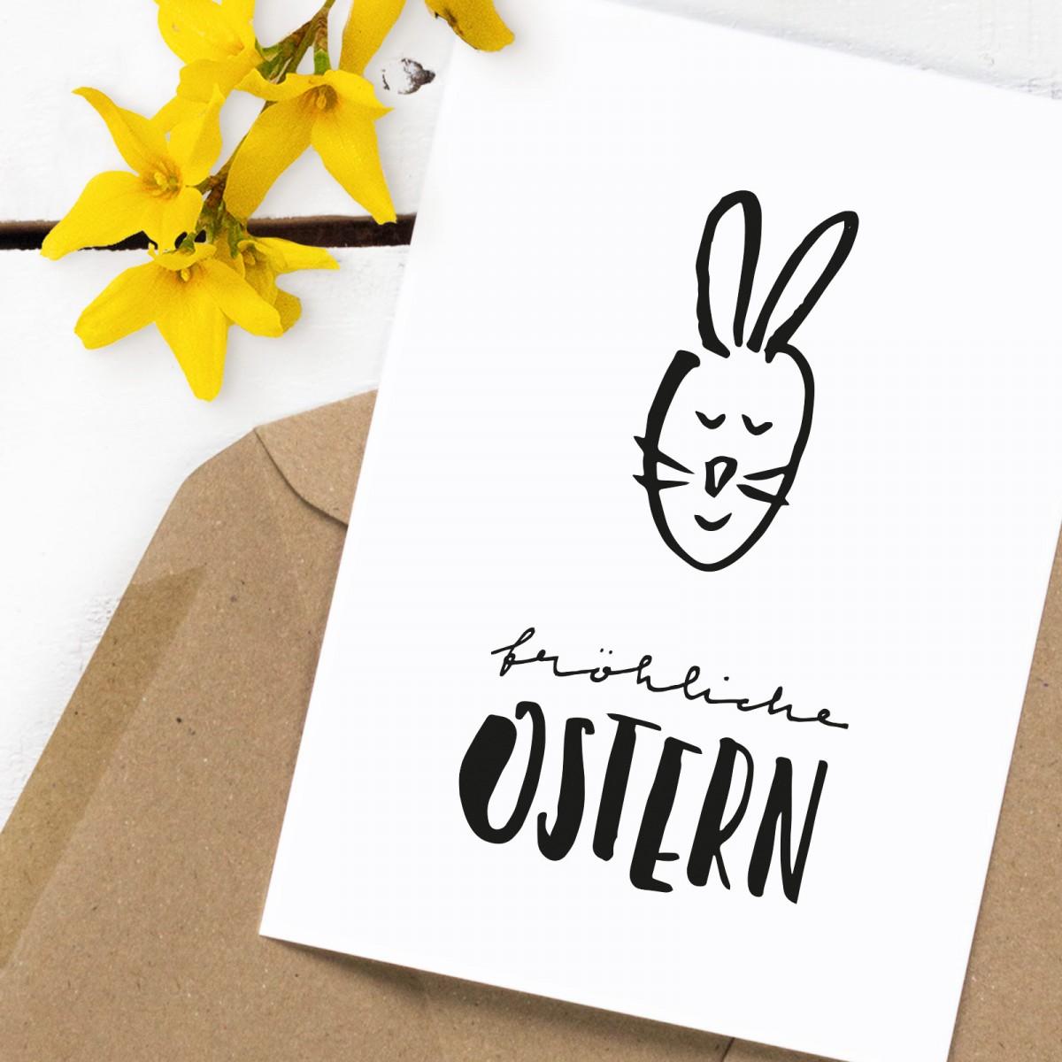 Kleine Papeterie // Osterkarte // Fröhliche Ostern