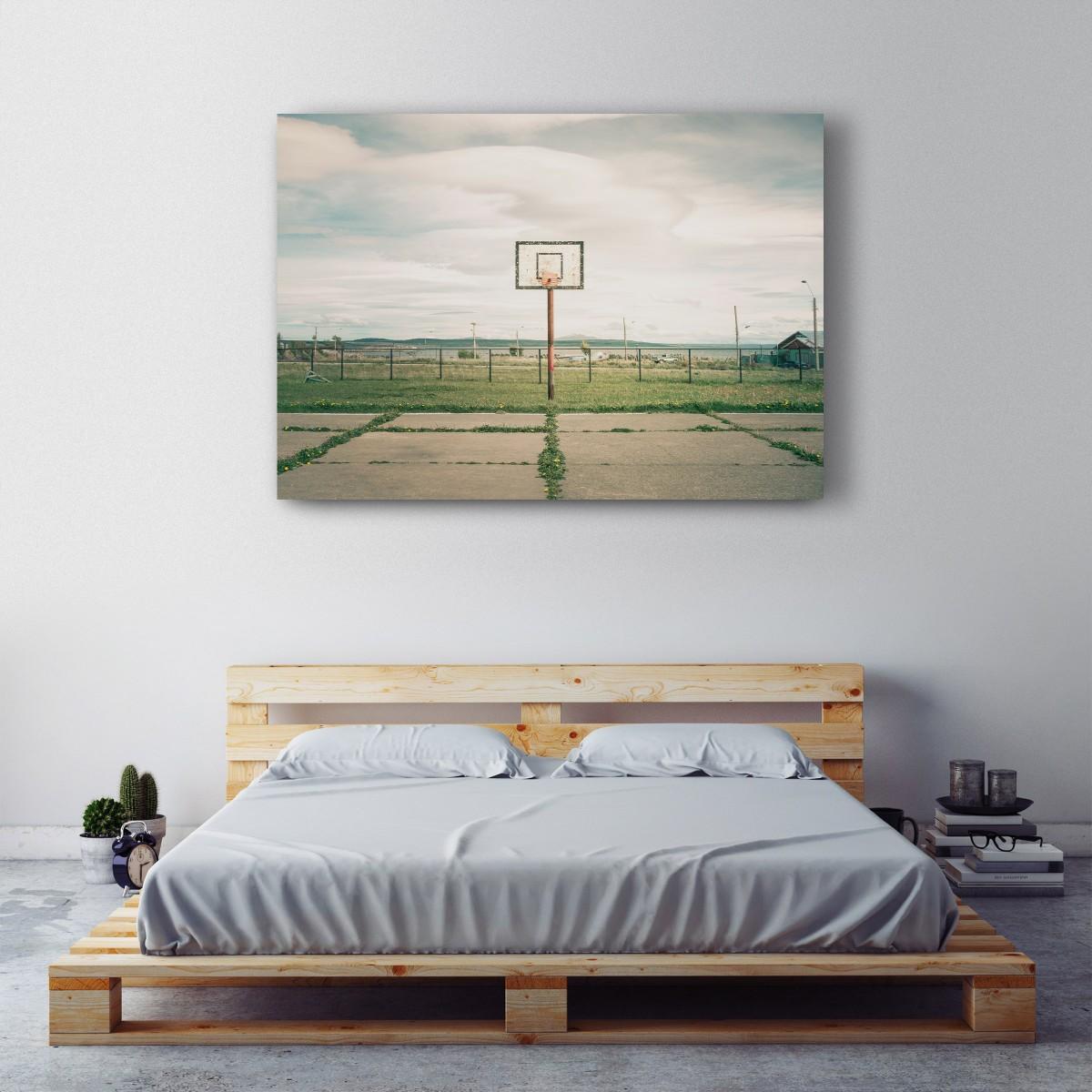 JOE MANIA / Modern Artprint Poster / Streetball Courts 1 (Puerto Natales, Chile) DIN A4 - A0