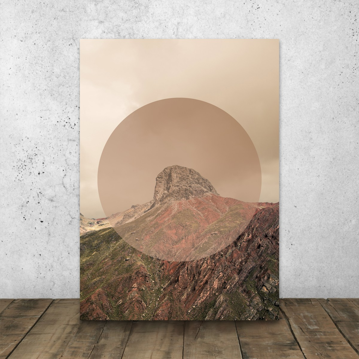 JOE MANIA / Modern Artprint Poster / Landscapes Circular  2 (Peak) DIN A4 - A0