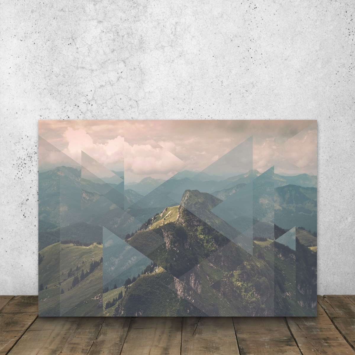 JOE MANIA / Modern Artprint Poster / Scattered Landscapes (Alps) DIN A4 - A0