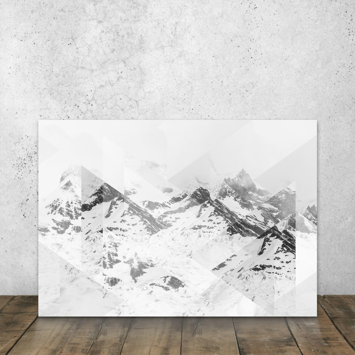 JOE MANIA / Modern Artprint Poster / Scattered Landscapes (Perito Moreno B&W) DIN A4 - A0