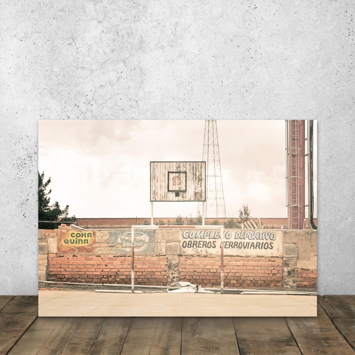JOE MANIA / Modern Artprint Poster / Streetball Courts 1 (La Paz, Bolivia) DIN A4 - A0