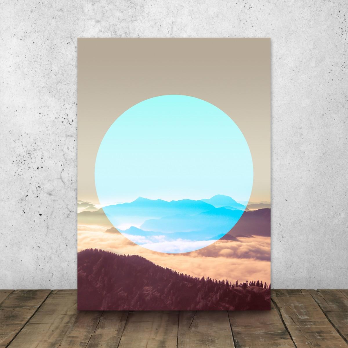 JOE MANIA / Modern Artprint Poster / Circular Landscapes (Alps)