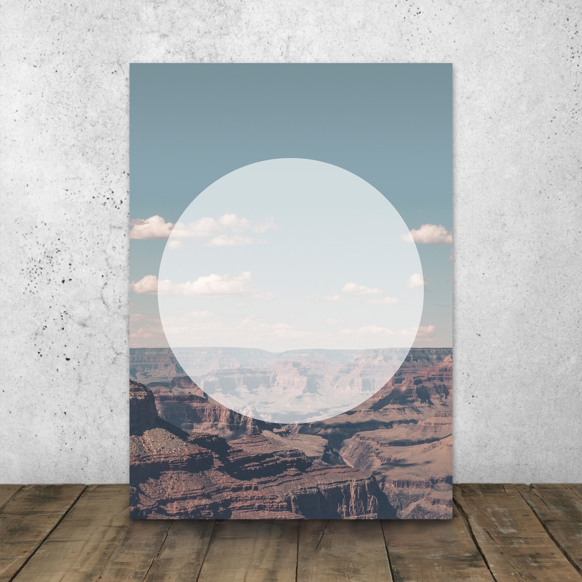 JOE MANIA / Modern Artprint Poster / Circular Landscapes (Grand Canyon)