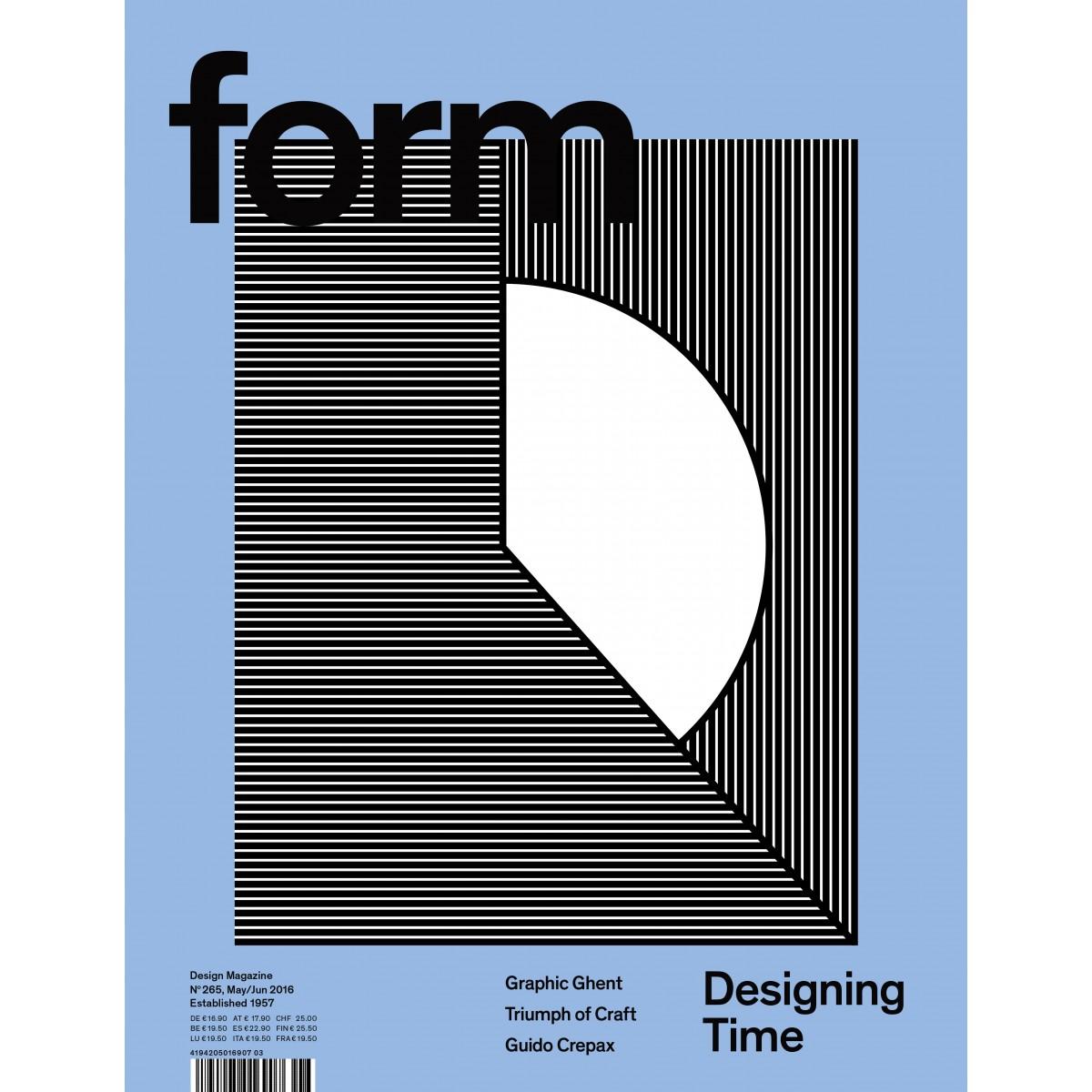 form Nº 265. Designing Time.