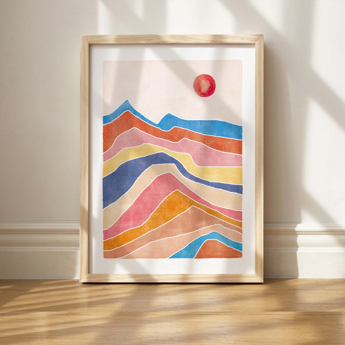 Paperlandscape | Kunstdruck | Bunte Landschaft | verschiedene Größen