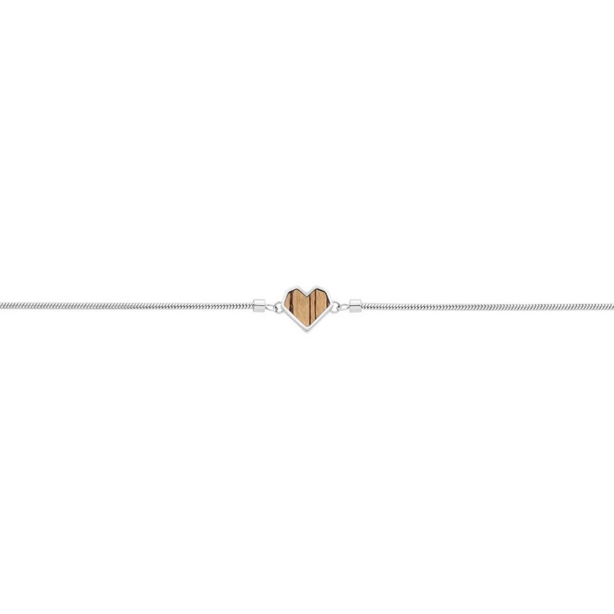 "Armband mit Holzdetail - Motiv Herz - ""Lini Bracelet Heart"""