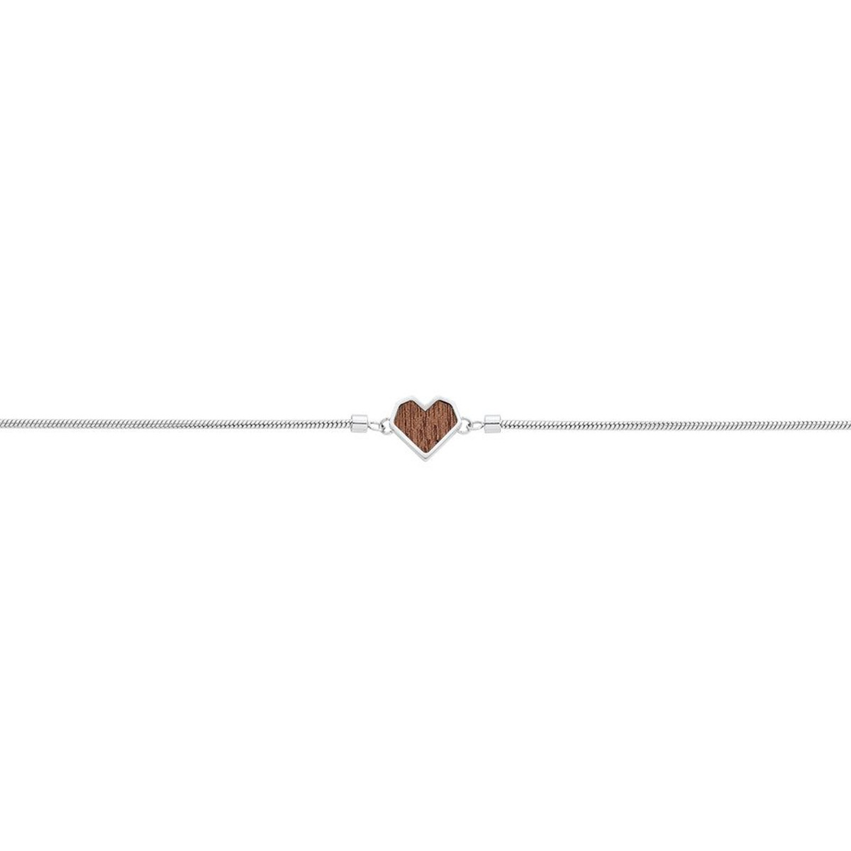 "Armband mit Holzdetail - Motiv Herz - ""Red Bracelet Heart"""