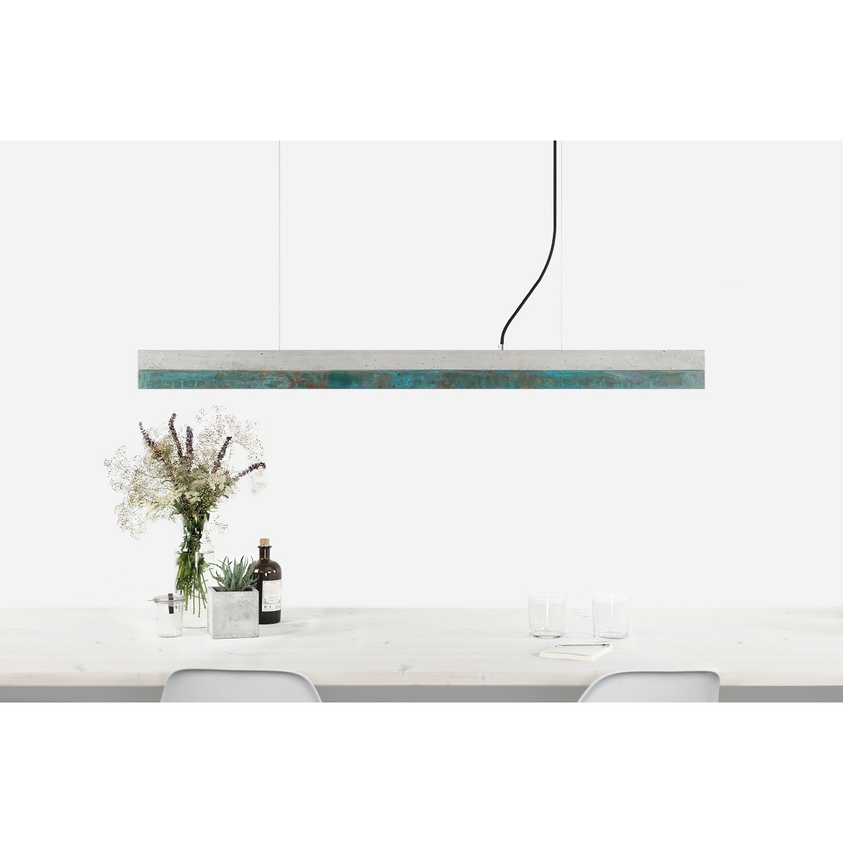 GANTlights - Beton Hängeleuchte [C1]oxid Lampe Oxidiertes Kupfer minimalistisch