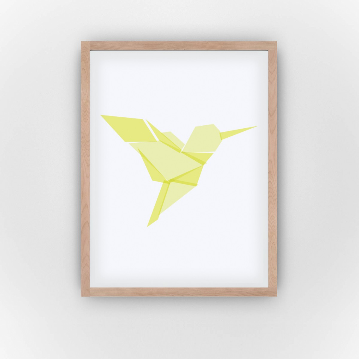 Yellow Hummingbird (Fine Art Bureau)