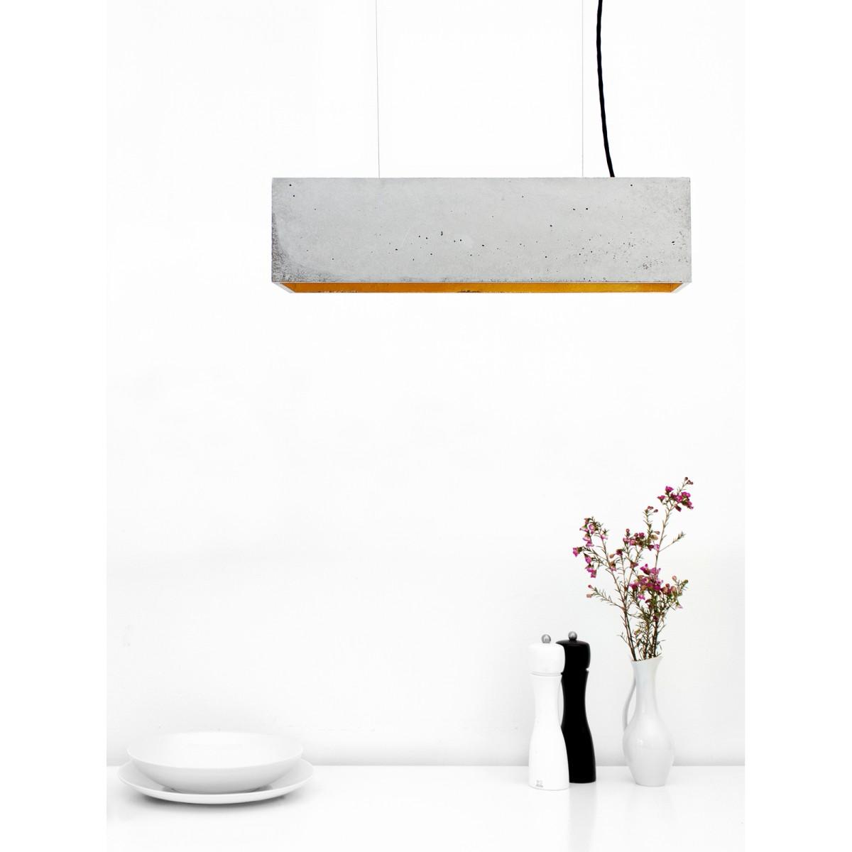 GANTlights - [B4] Hängeleuchte Beton Gold minimalistisch