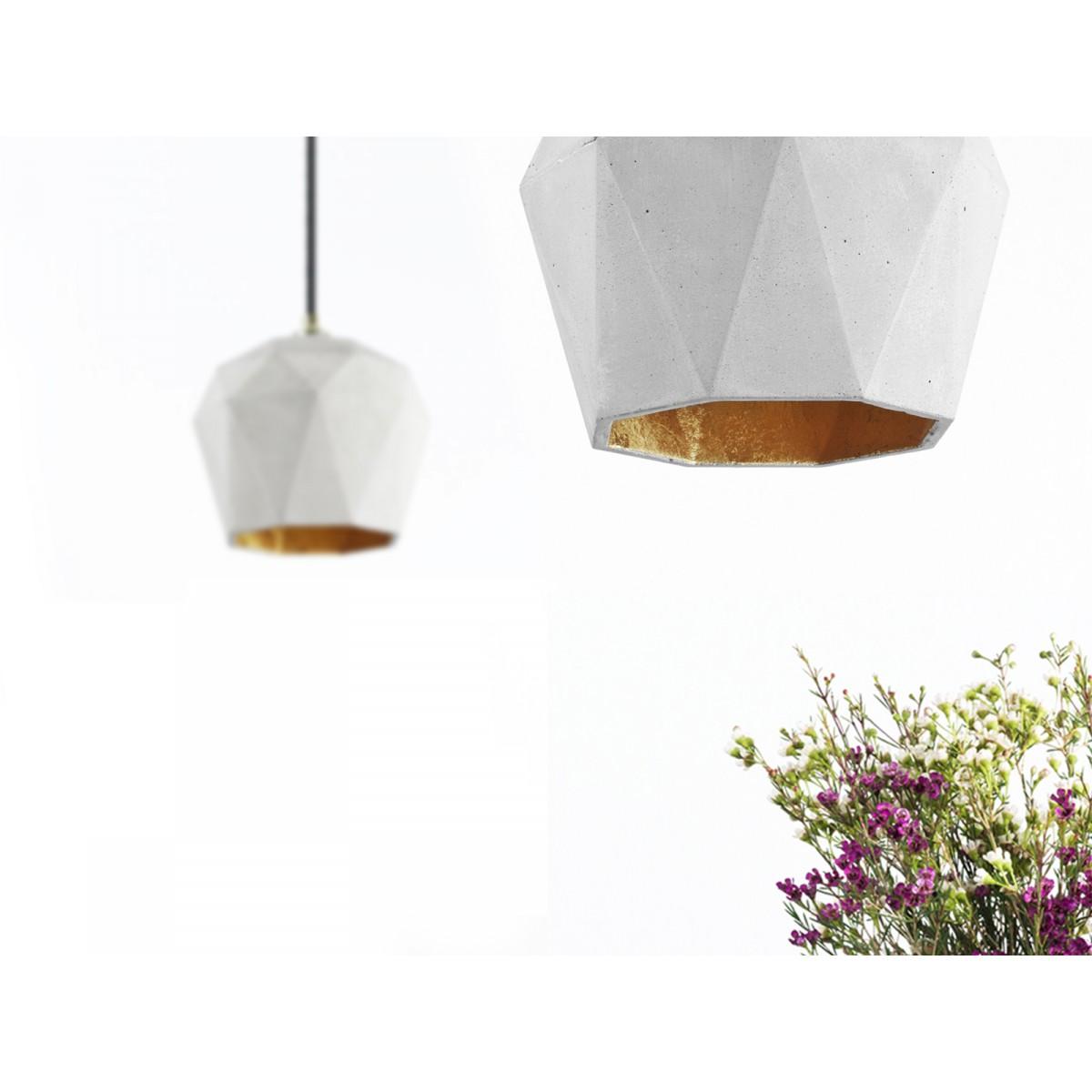 GANTlights - Beton Hängelampe Lampe Gold trianguliert  [T3]