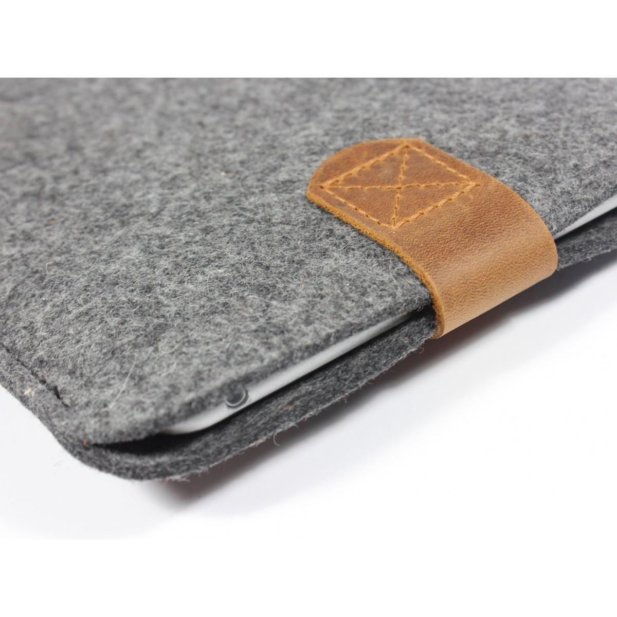 iPad mini Case aus Merino Wollfilz und Leder