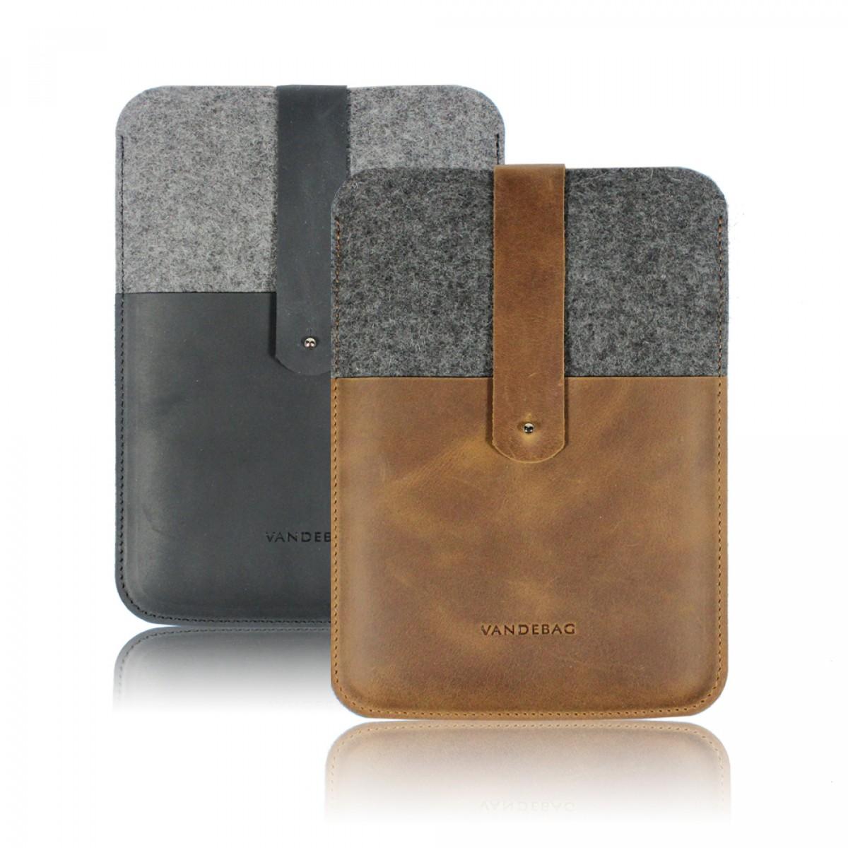 VANDEBAG - iPad mini Case aus Merino Wollfilz und Leder