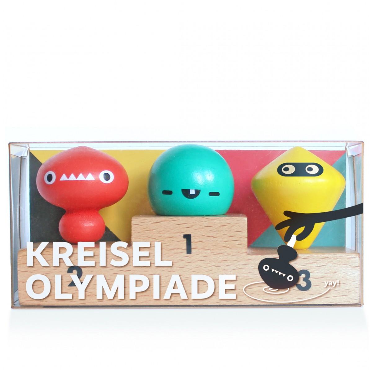 Kreisel Olympiade, 3 Fingerkreisel auf Siegertreppchen - von Neue Freunde