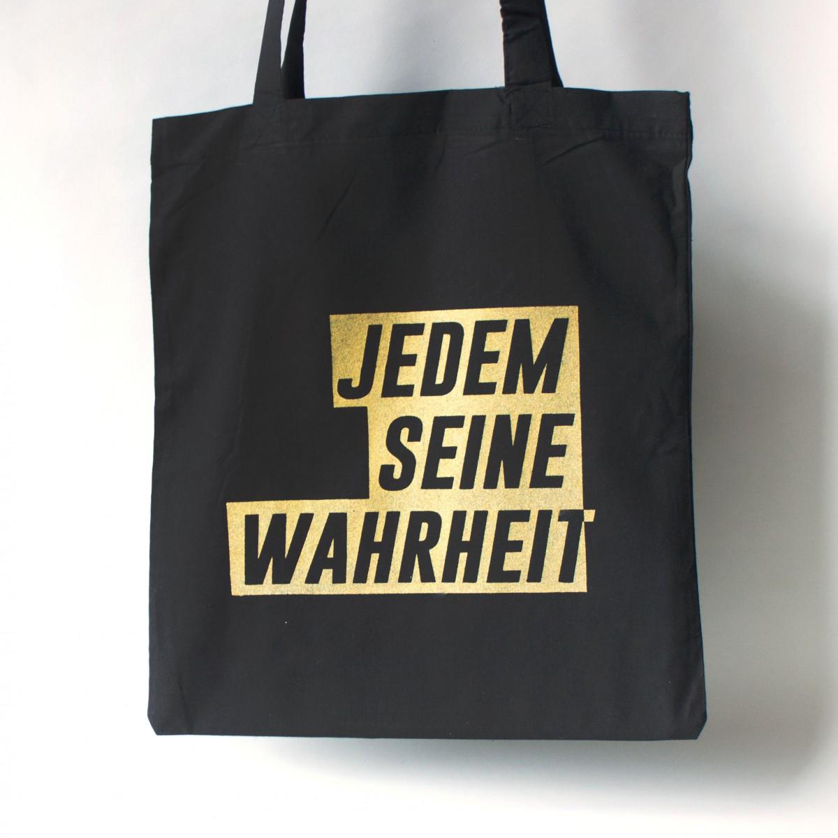 """KINDERGELD JUTEBEUTEL  """"GÜNTER"""" JEDEM SEINE WAHRHEIT"""