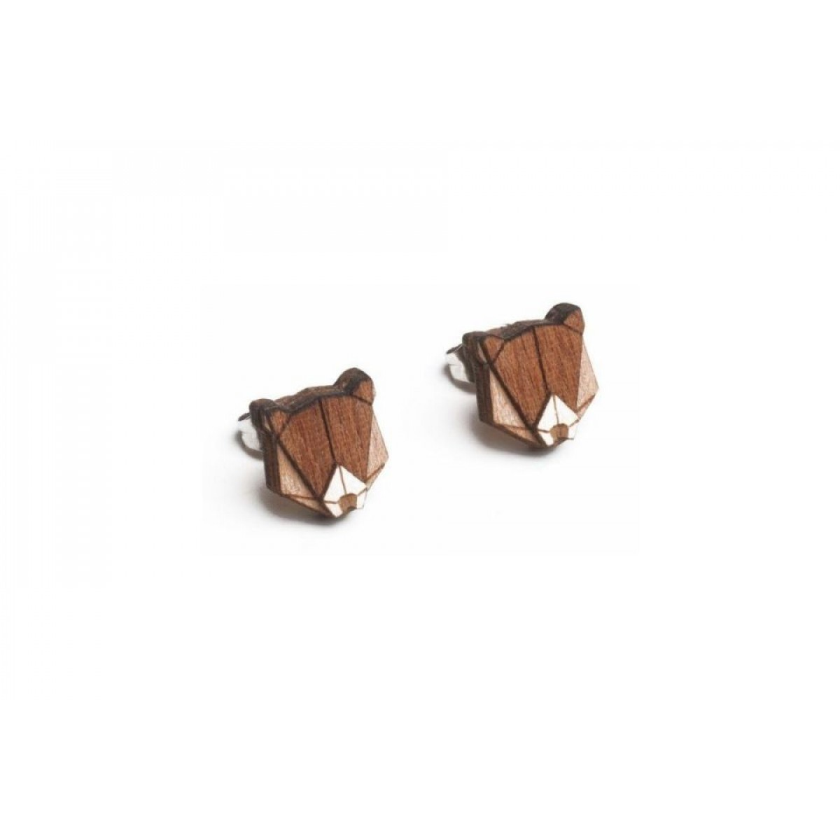 BeWooden Ohrringe - Ohrstecker aus Holz - Bear Earrings