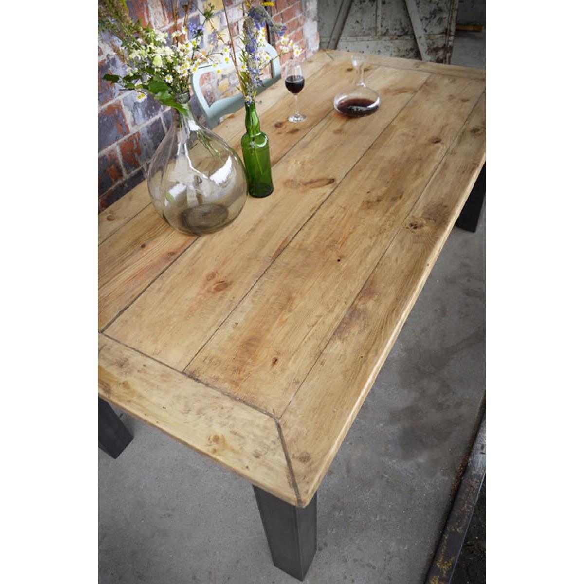 Esstisch aus Bauholz & Eisen Arles 180x96cm
