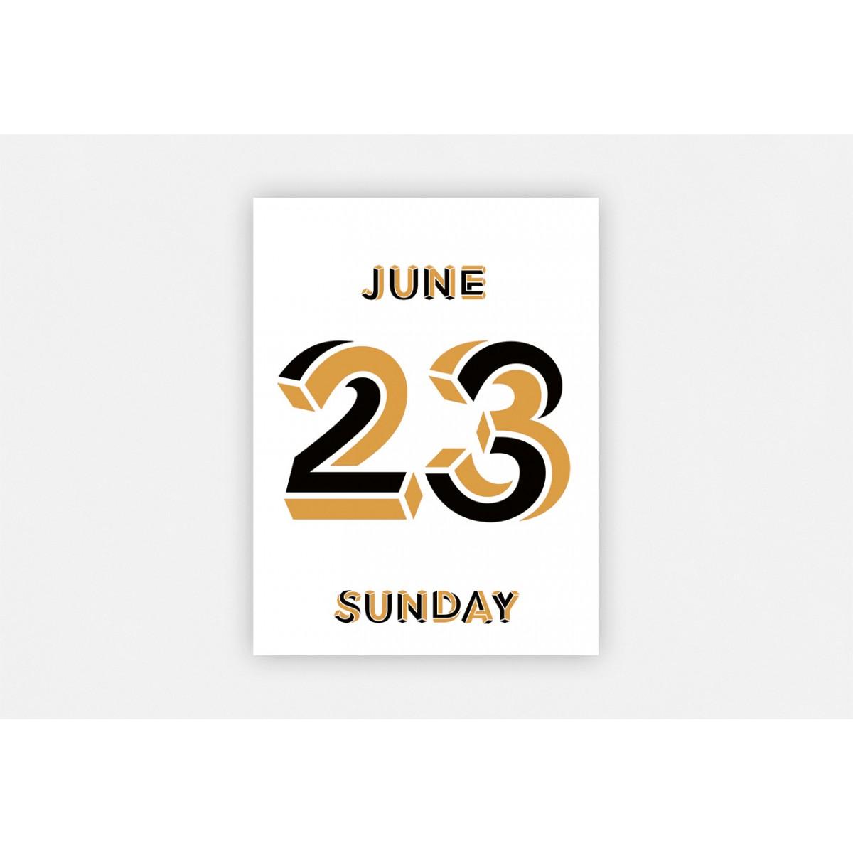 Lars Harmsen | Raban Ruddigkeit - Typodarium 2019 (Tages-Abreißkalender)