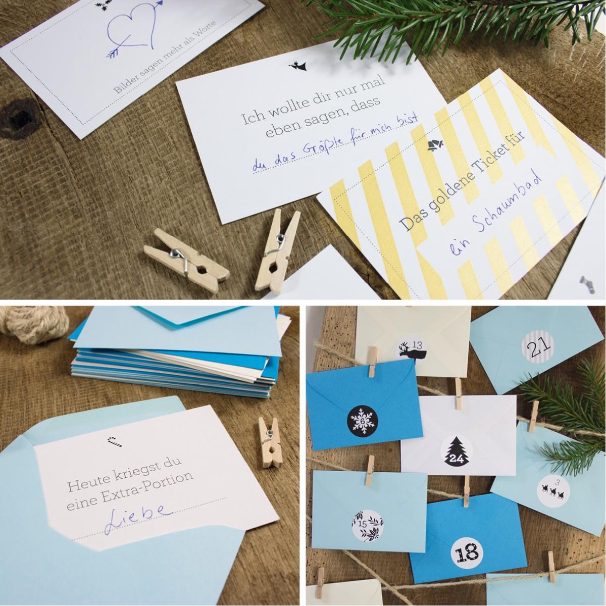 Bow & Hummingbird Adventskalender Eisblau