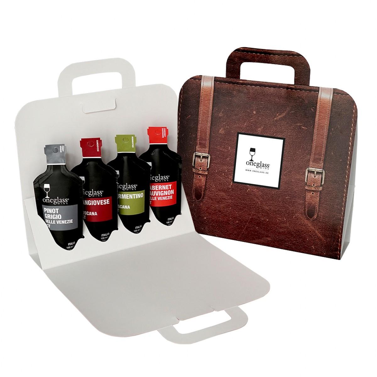 4er Oneglass Wein Mix Tasche
