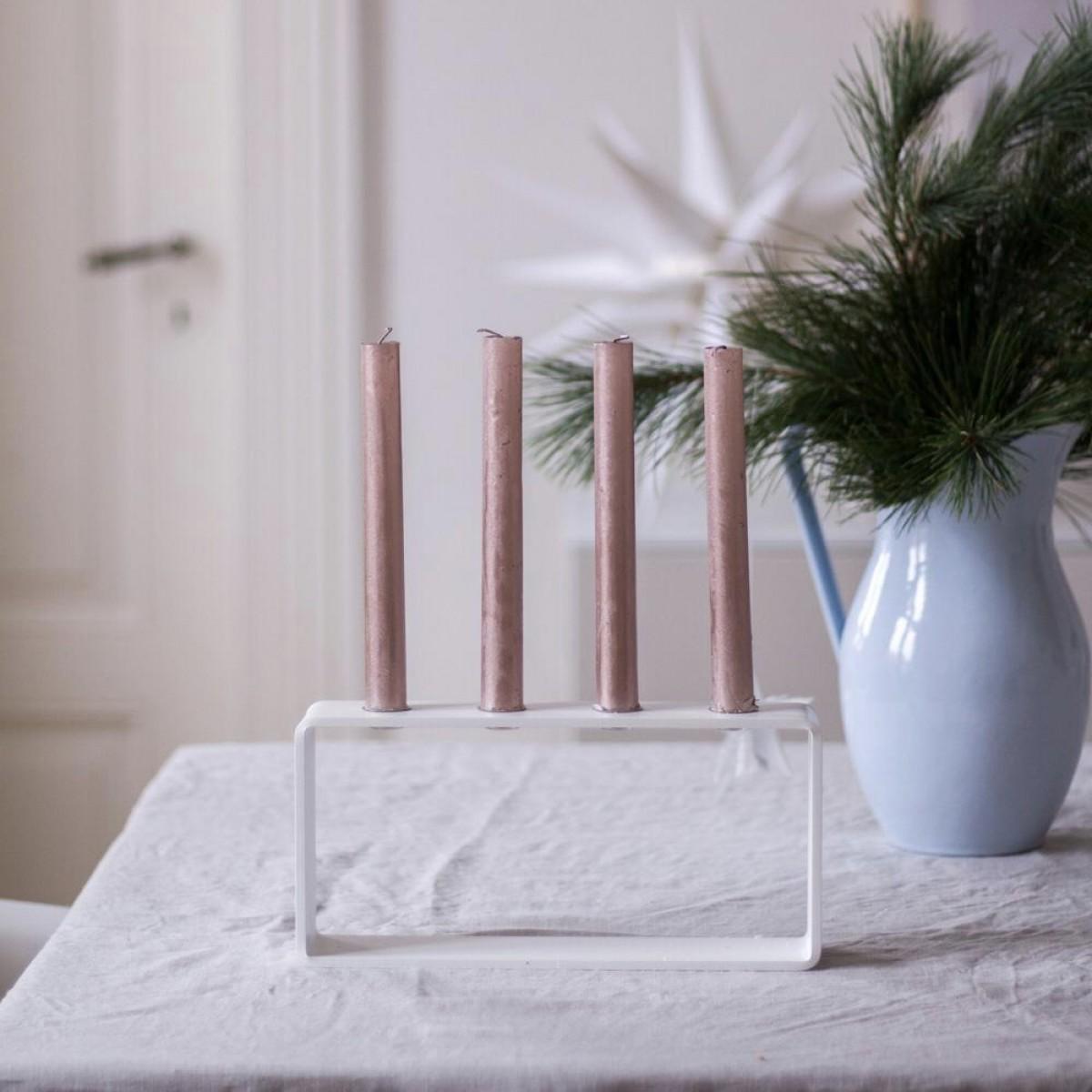 HauszeitDesign 4glow weiß Adventskranz