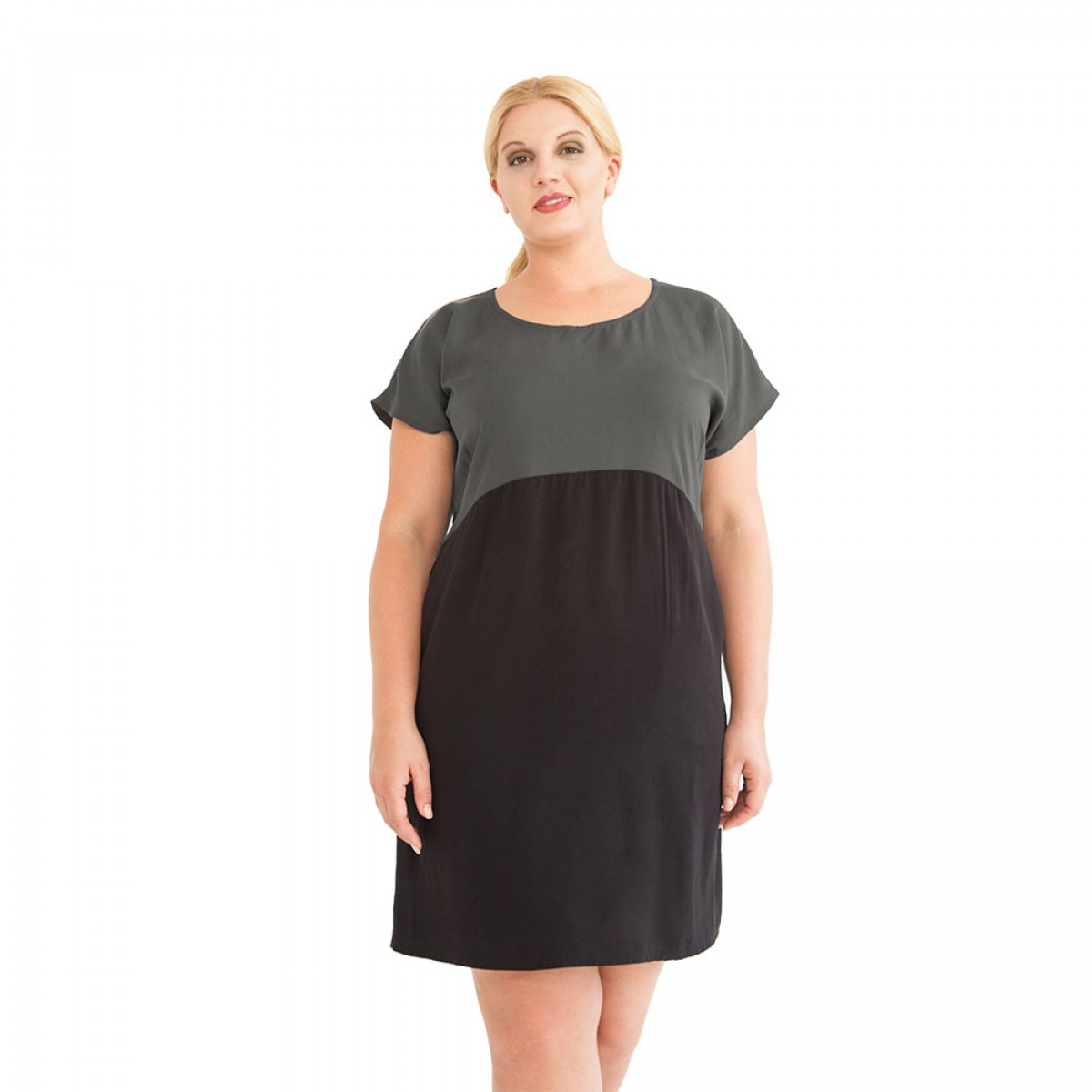 "WiDDA - Kleid ""Too Grey"" aus Tencel"