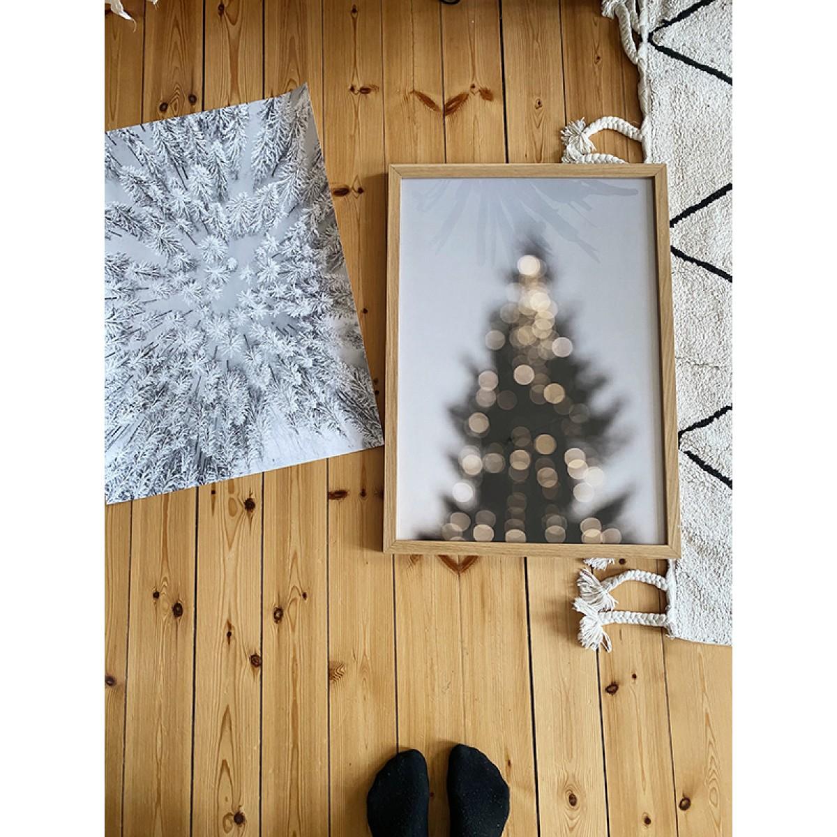 """nahili ARTPRINT / POSTER """"snowy FOREST"""" Winterwald Drohnen-Fotografie (DIN A1/A3 & 50x70cm)"""