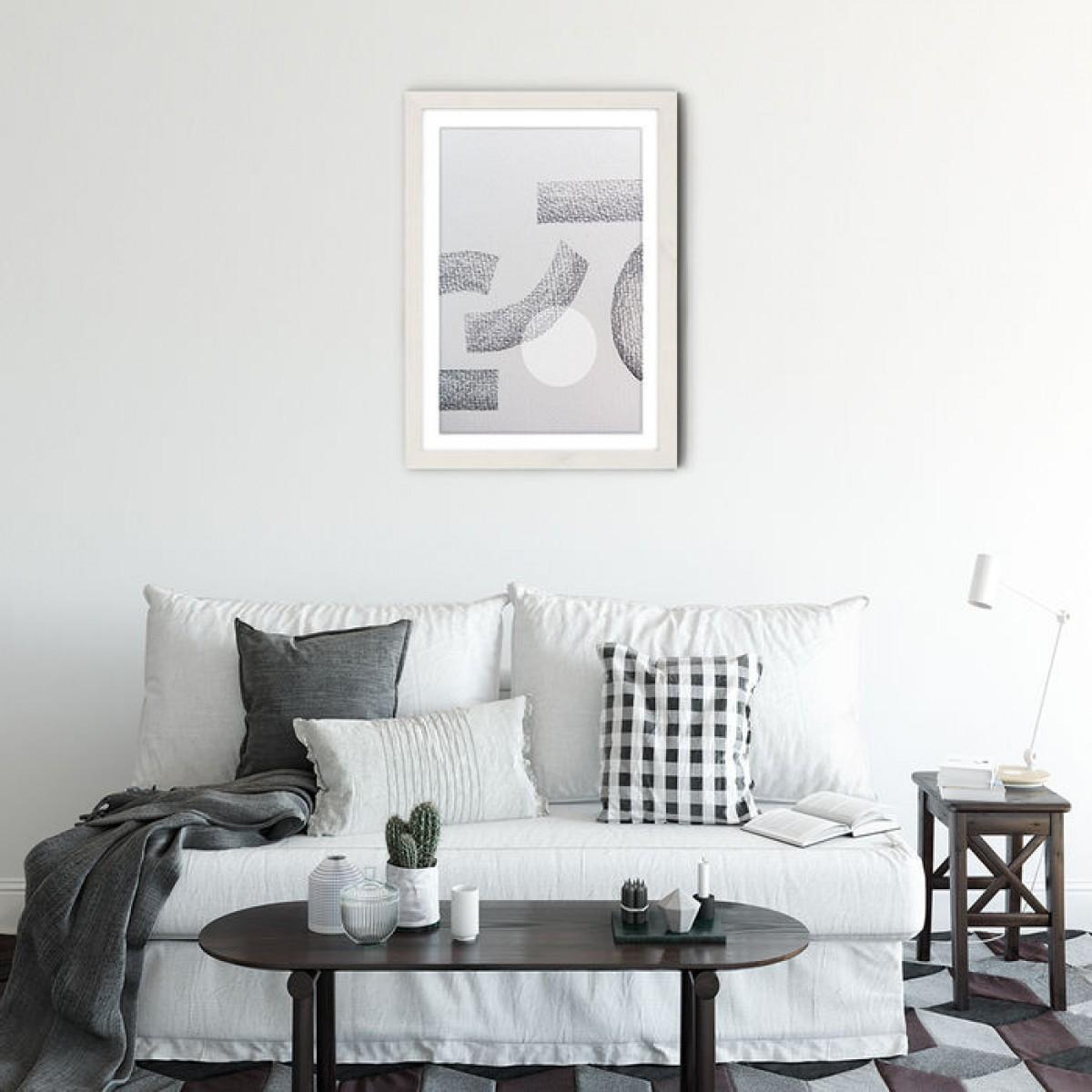 "nahili ARTPRINT / POSTER ""minimal abstract charcoal"" abstrakte Grafik Kunst - Druck (DIN A1/A3 & 50x70cm)"