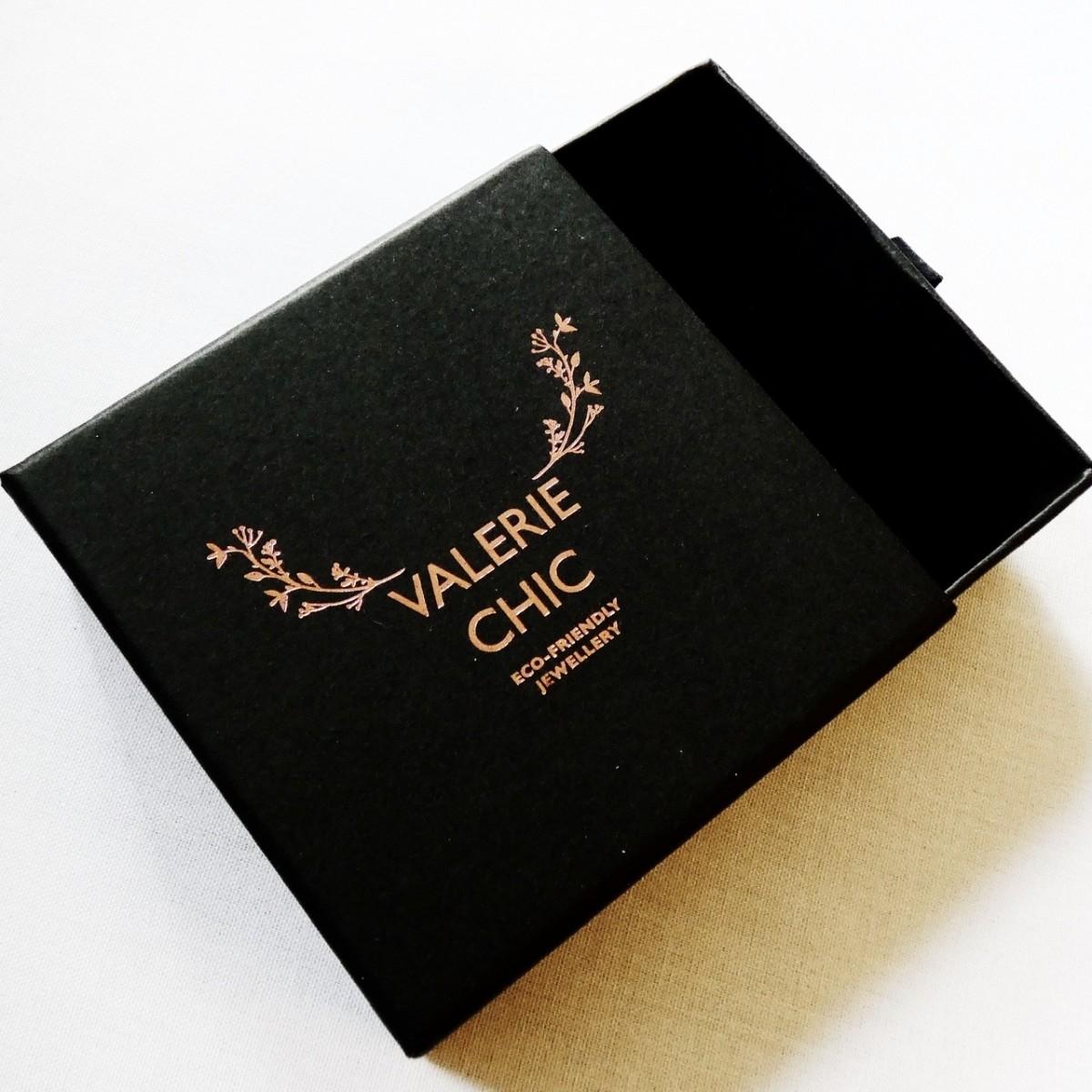 Valerie Chic - BILLIE Ohrringe - 18 Karat vergoldet, Büffelhorn