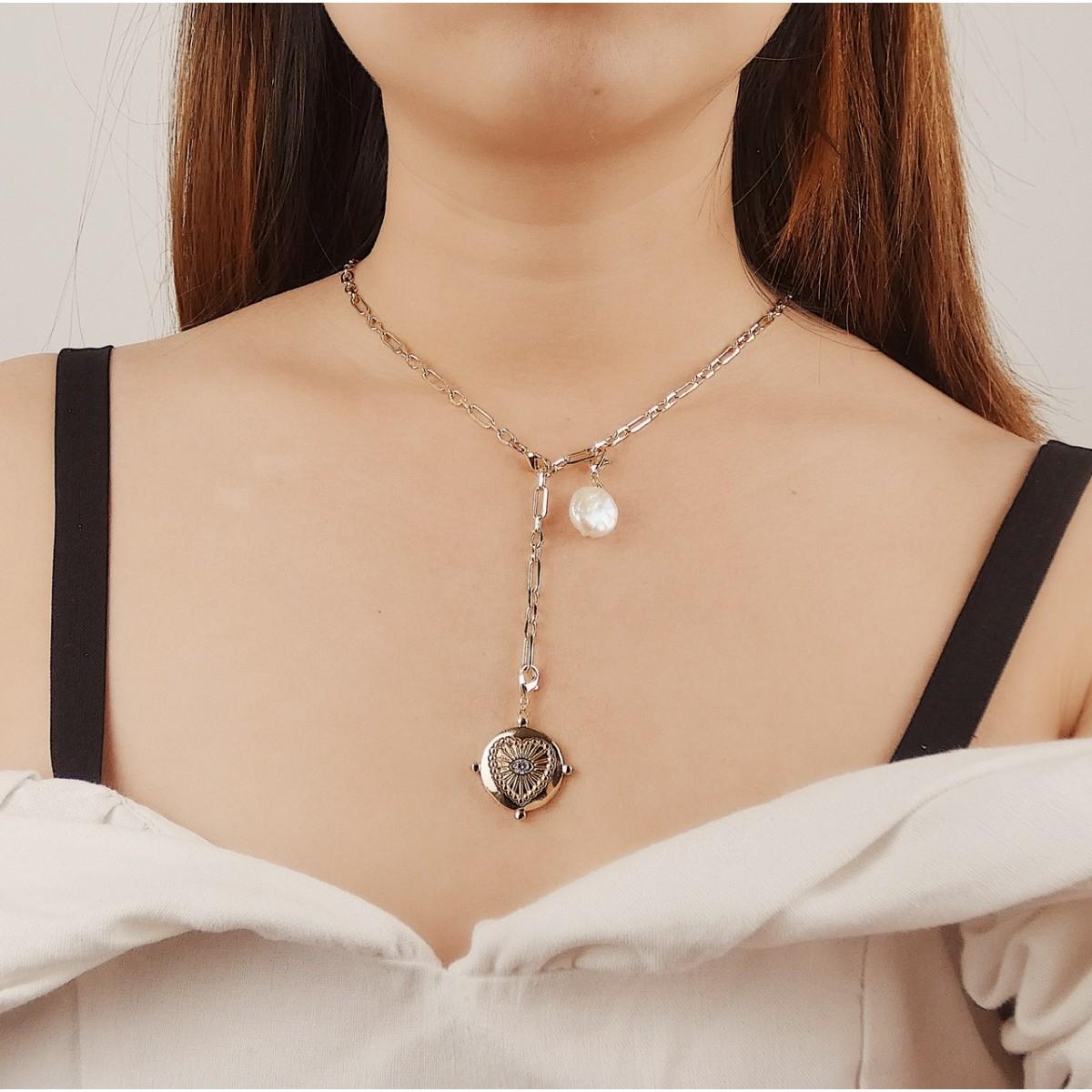 Valerie Chic - PROTECT YOUR HEART Halskette & Creolen - 18 Karat vergoldet
