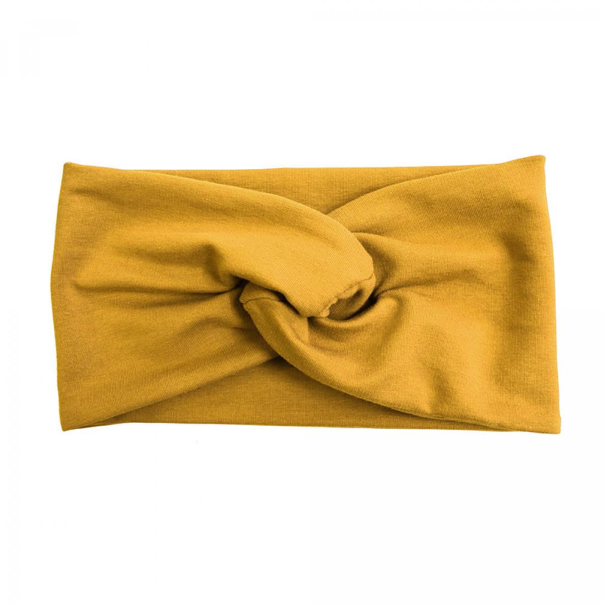 """WiDDA - senfgelbes Stirnband """"Senna"""" aus Baumwollsweat"""