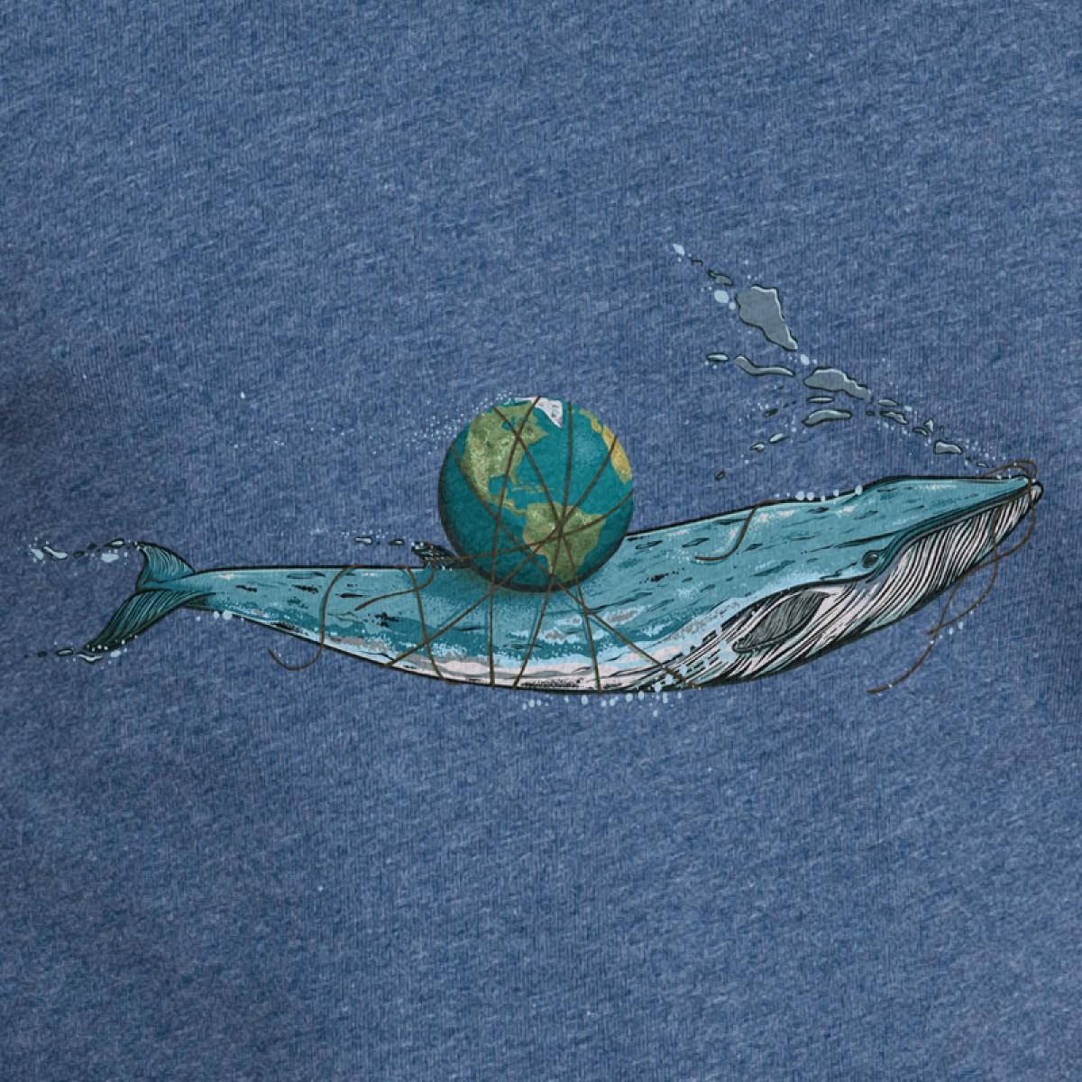 Robert Richter – Save the Planet (Whale) - T-Shirt aus der Nikkifaktur