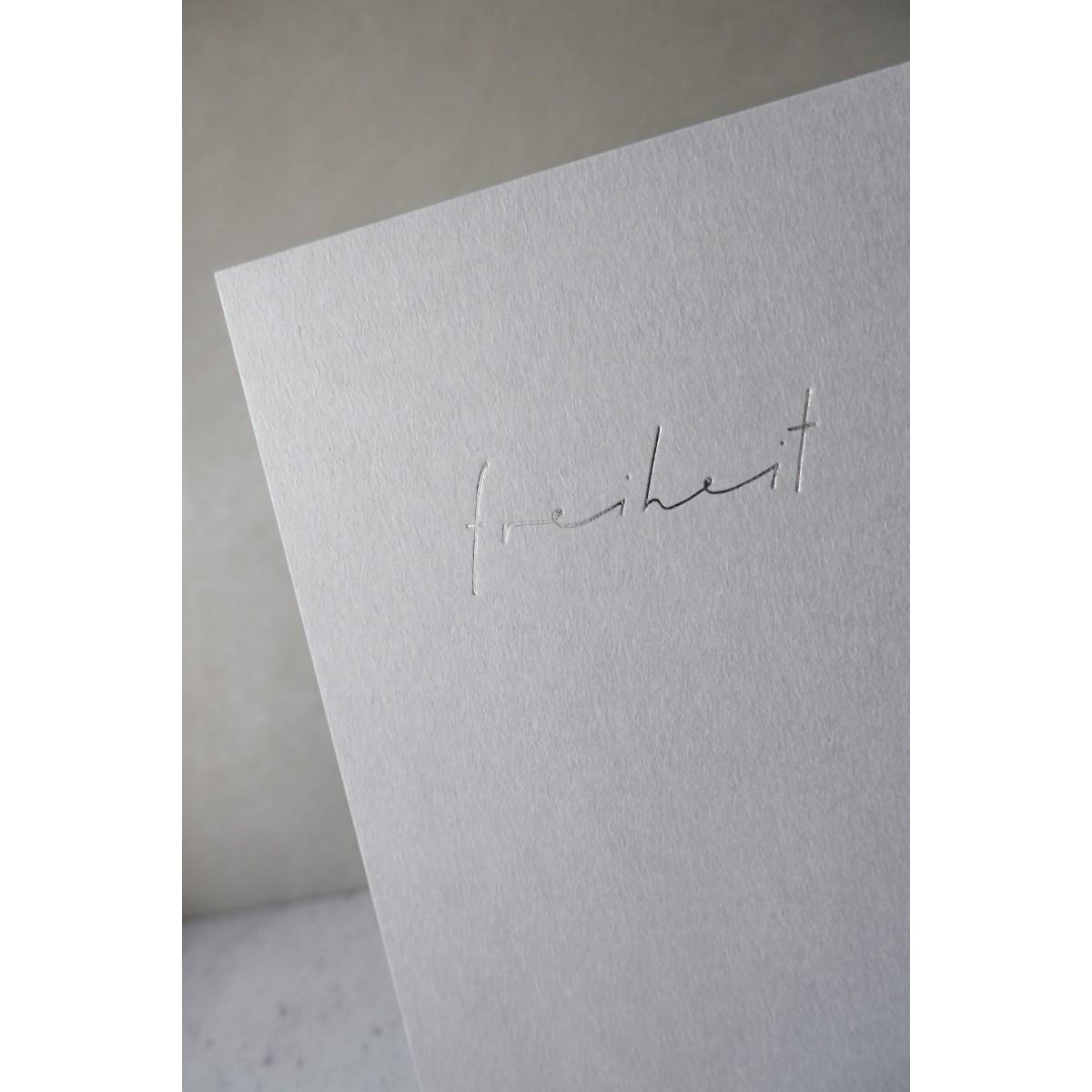 FREIHEIT - A5 Print - Letterpress – Anna Cosma