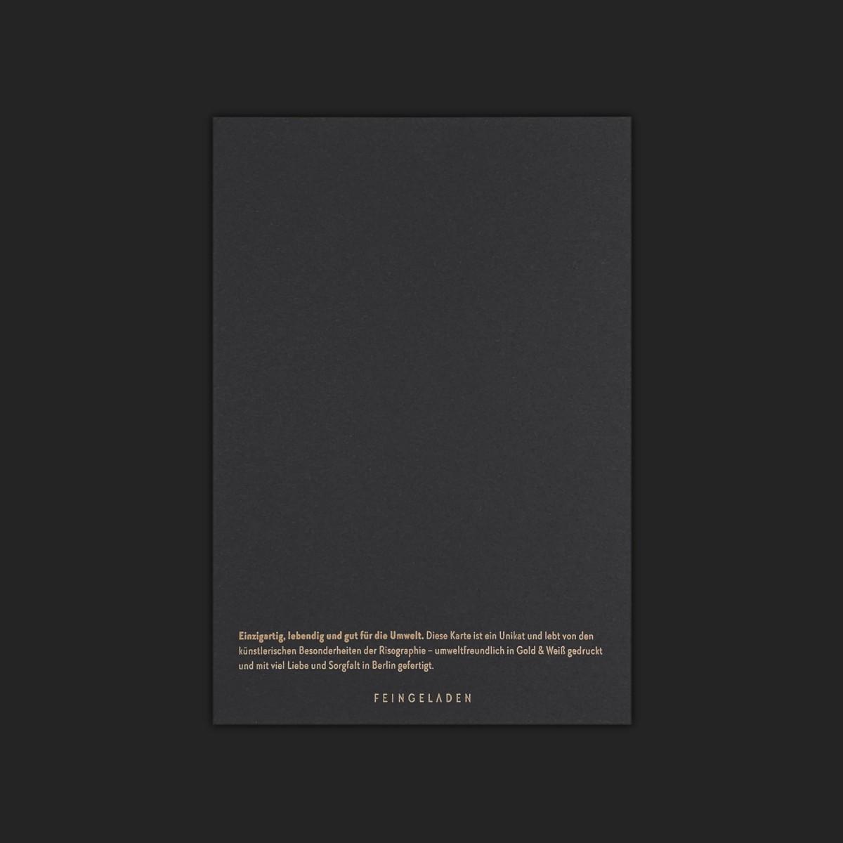 Feingeladen // LOVE STORIES // Ein Hoch auf Euch (Black Edition) – A6