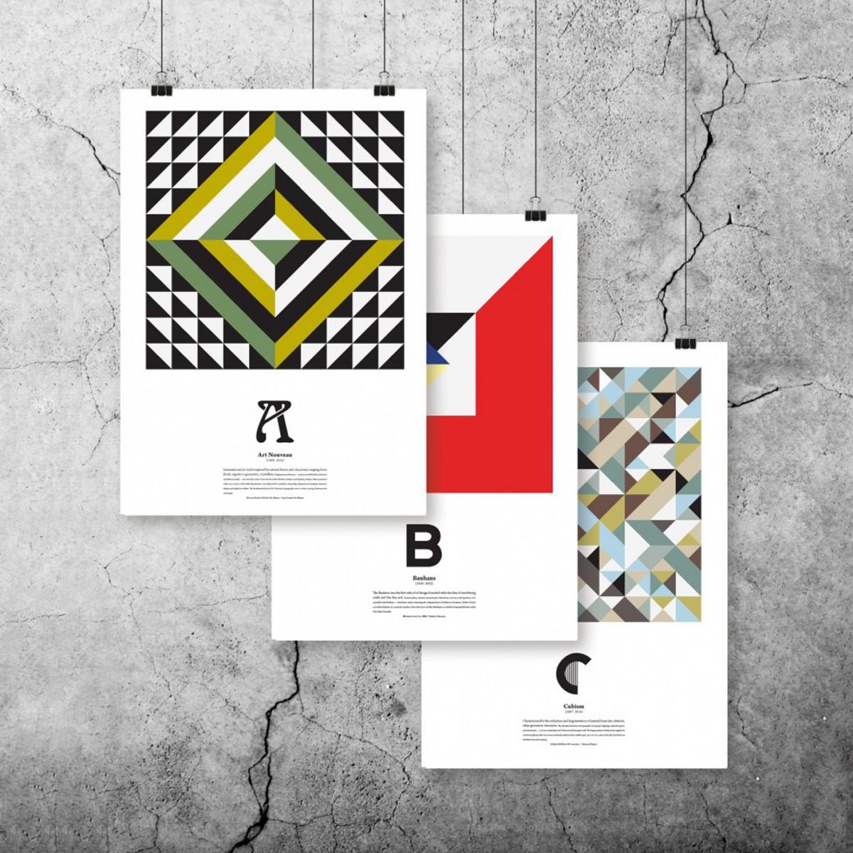 The True Type Kunst ABC Plakatserie (DIN A3)
