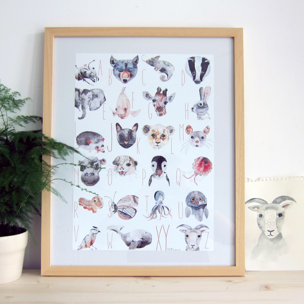 nuukk Tiere ABC Poster (30x42cm)