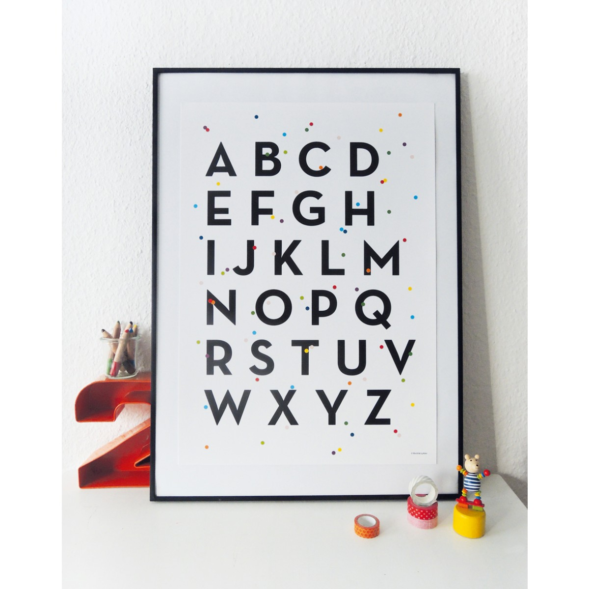 Held&Lykke ABC-Poster ABConfetti (DIN A2)