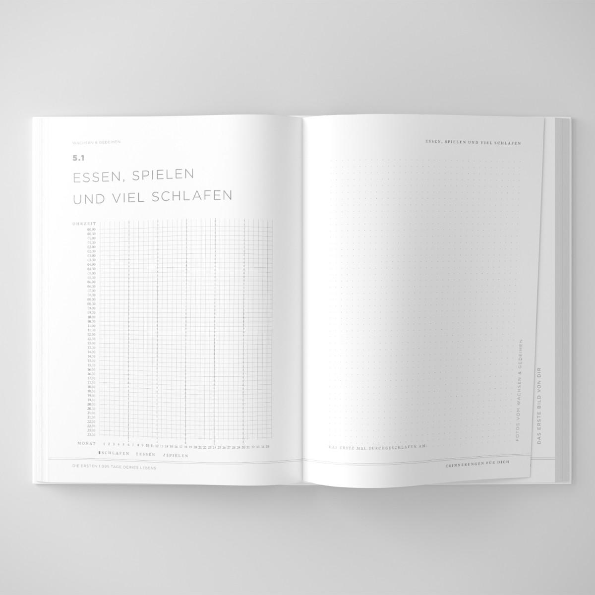 """ACD DESIGN.BÜRO / Das Babyjournal """"Die ersten 1.095 Tage deines Lebens"""""""
